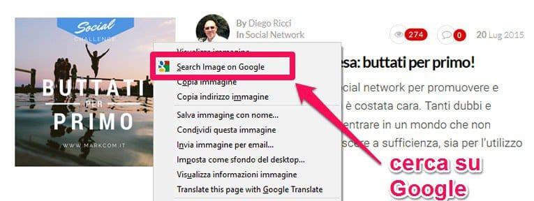 Cerca immagine su Google