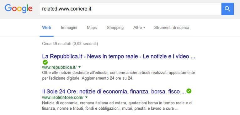 Come cercare con Google - ricerche correlate