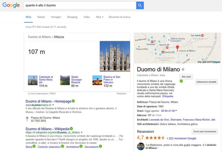 Ricerca su Google - la Knowledge Graph