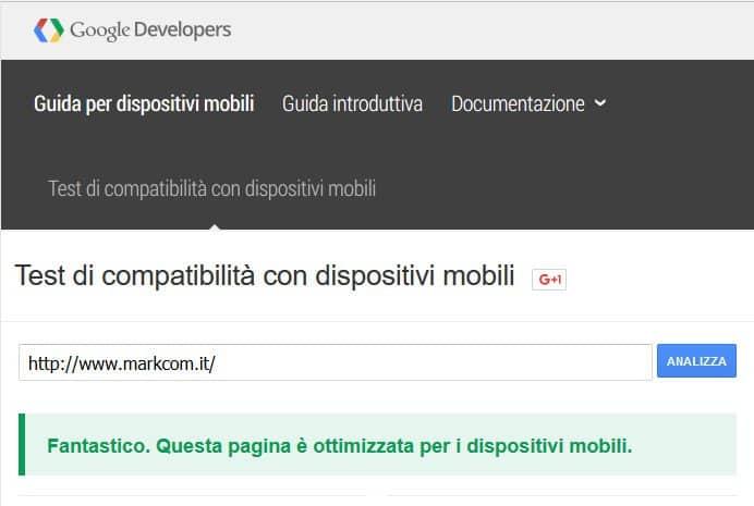 test compatibilita dispositivi mobili per promuovere attività online