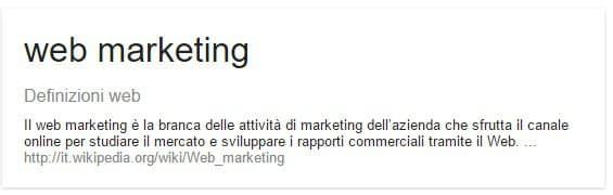 Definizione web marketing