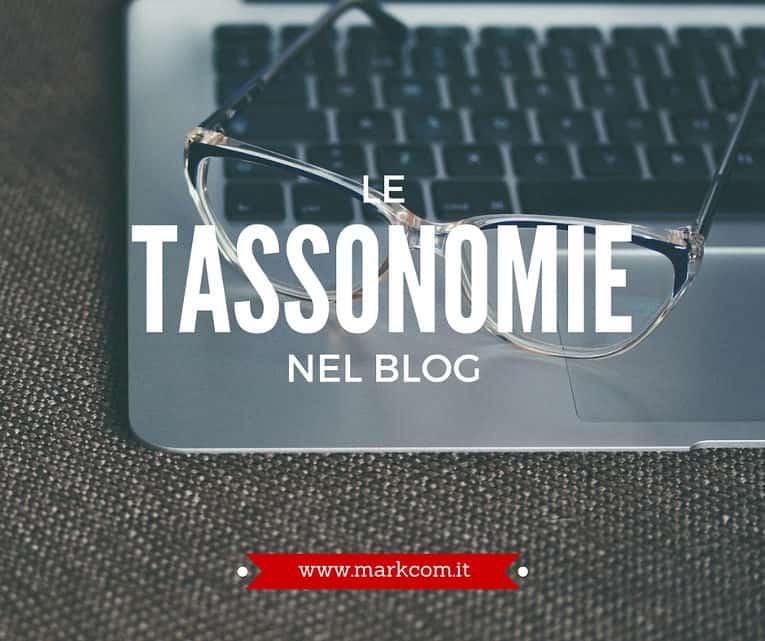 Le tassonomie nel blog - come usarle