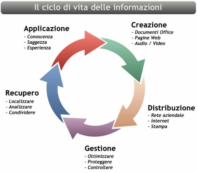 Il ciclo di vita delle informazioni