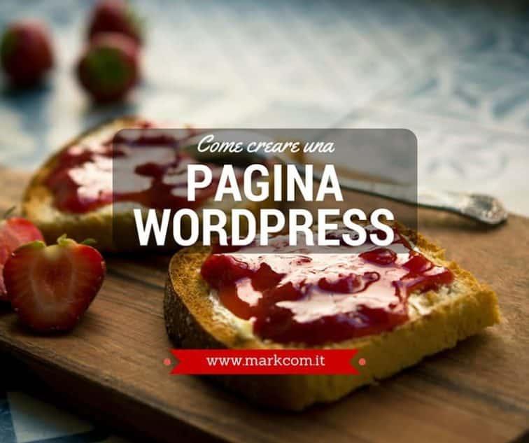 Come creare una pagina wordpress
