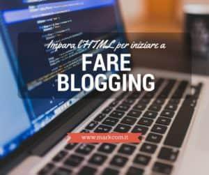 Imparare l'HTML per iniziare a fare blogging