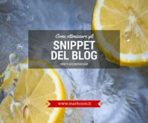 Dal tag title alla description: come ottimizzare gli snippet del blog