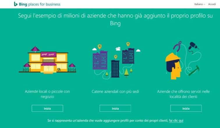 Bing places for business, oltre a Google My Business