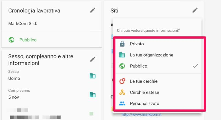 privacy-su-google-condivisione