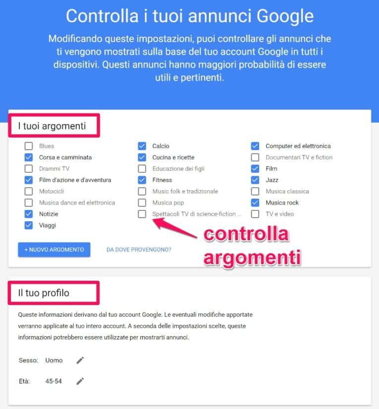 proteggere-privacy-google-controlla-annunci