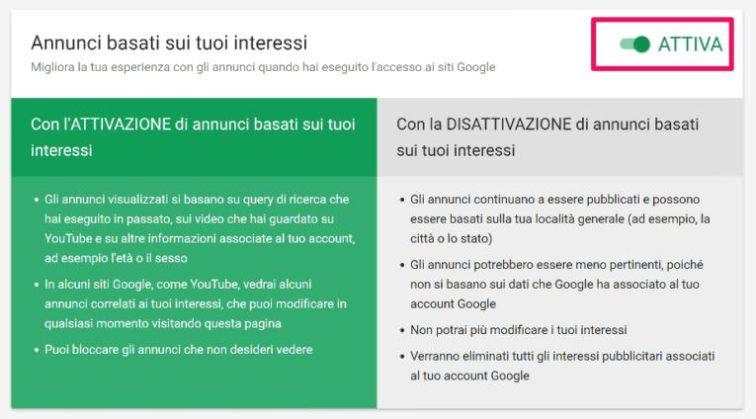 proteggere-privacy-google-controlla-annunci-interessi