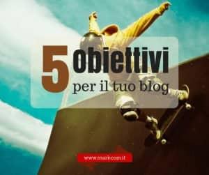 5 obiettivi concreti che puoi raggiungere con il blog aziendale