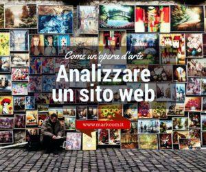 Analizzare un sito web come un'opera d'arte