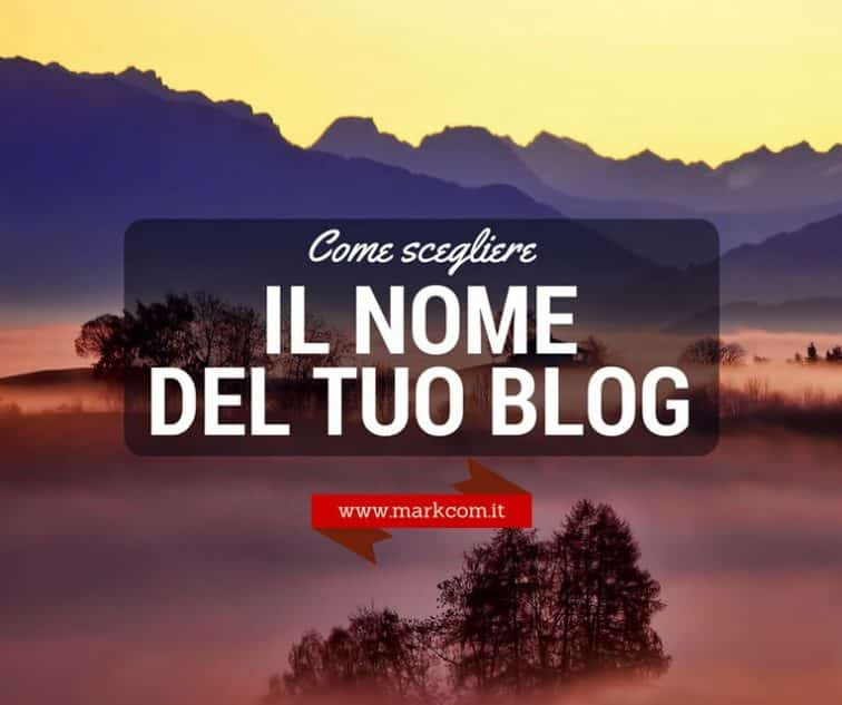 Nome del blog