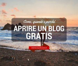 Aprire un blog gratis: come, quando e perché conviene