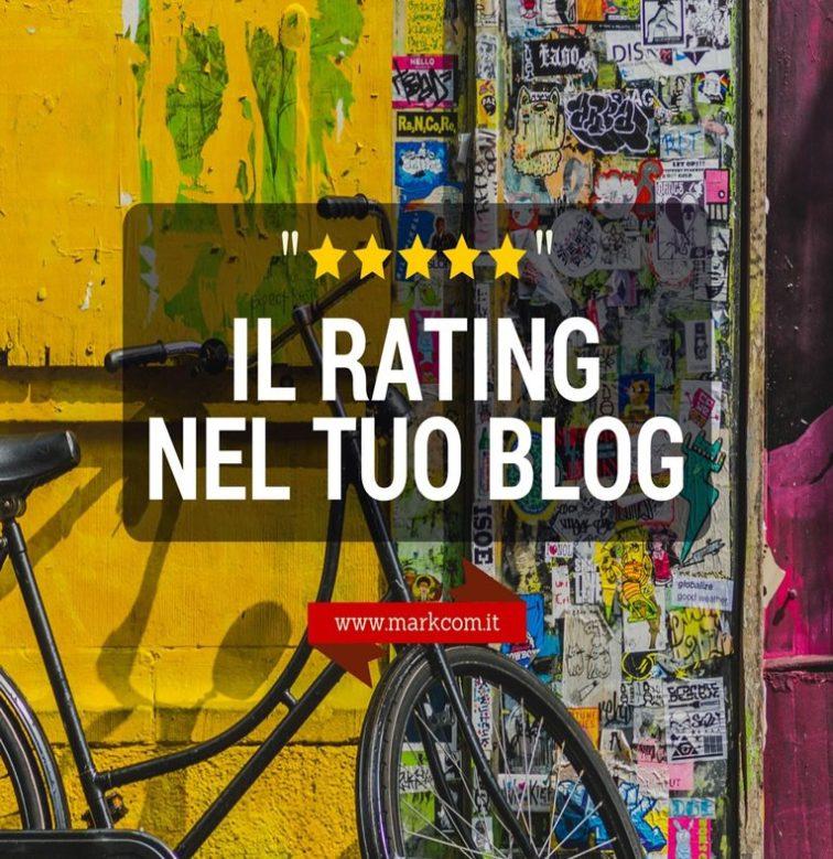 Le stelle di valutazione - rating nel blog