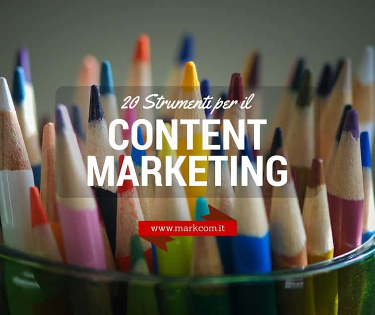 20 strumenti per content marketing per blog