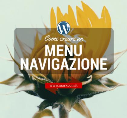 Come creare un menu di navigazione su WordPress