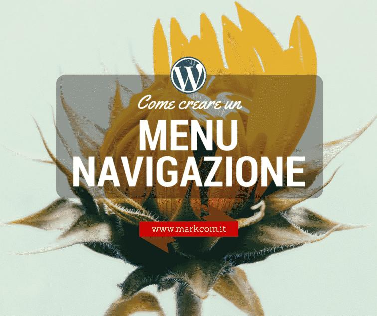 Menu di navigazione con WordPress