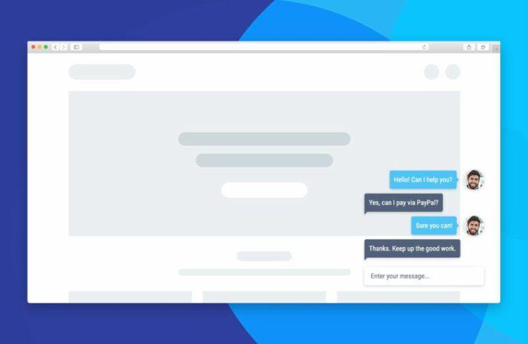 chat per siti web